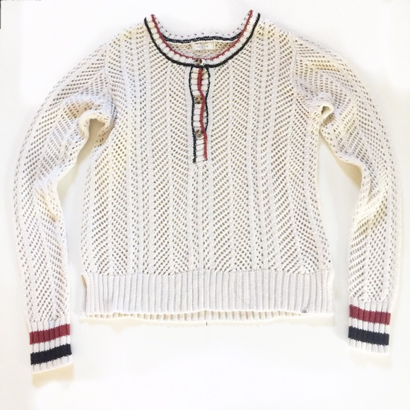 Volcom Stone Row Collection Knit Crochet Sweater